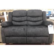 Klaussner Home Furnishings Motion Loveseat Hoffman - Yadi Charcoal