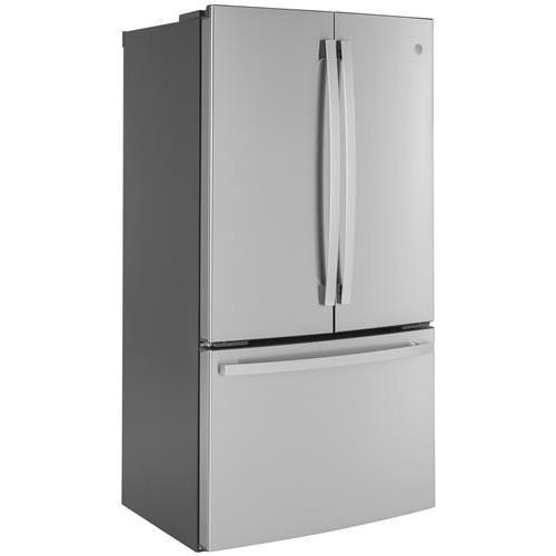 GE® ENERGY STAR® 23.1 Cu. Ft. Counter-Depth Fingerprint Resistant French-Door Refrigerator