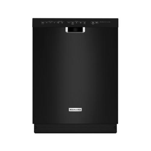 Gallery - 24'' 6-Cycle/5-Option Dishwasher, Pocket Handle - Black