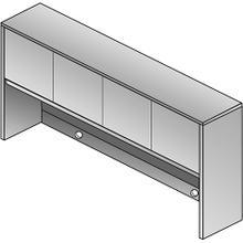 """See Details - Kenwood 72"""" Overhead Storage W/doors"""