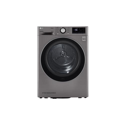 LG - 4.2 cu.ft. Smart wi-fi Enabled Compact Front Load Dryer with Dual Inverter HeatPump™ Technology