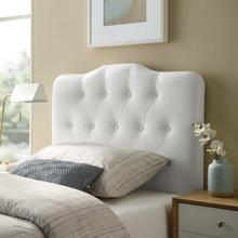 View Product - Annabel Twin Upholstered Vinyl Headboard in White
