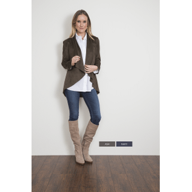 WB Roll Tab Sleeve Suede Jacket - XS (2 pc. ppk.)