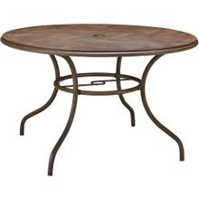 See Details - Hanover Summerland 48 in. Round Faux-Wood Dining Table, 13235-TR