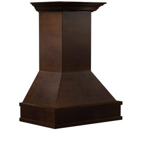 """Zline KitchenZLINE 36"""" Wooden Wall Mount Range Hood in Walnut and Hamilton - Includes Single Remote Motor (329WH-RS-36-400) [Size: 36 Inch, CFM: 400]"""
