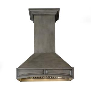 ZLINE Wooden Wall Mount Range Hood in Distressed Gray - Includes Remote Motor (321GG) [Size: 30 Inch, CFM: 1200] -