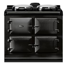 """AGA Dual Control 39"""" Electric Black with Stainless Steel trim"""