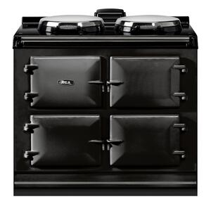 "AGAAGA Dual Control 39"" Electric Black with Stainless Steel trim"