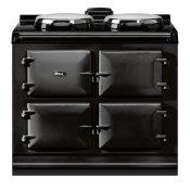 "AGA Dual Control 39"" Electric Black with Stainless Steel trim"