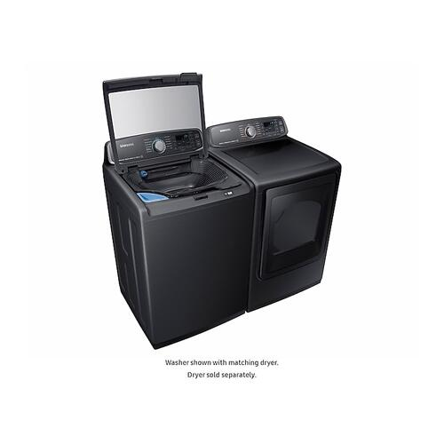 Samsung - 5.2 cu. ft. activewash™ Top Load Washer in Black Stainless Steel