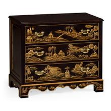 Chinoiserie style nightstand of drawer