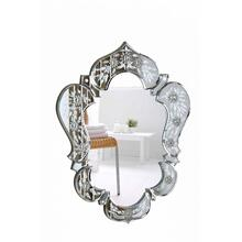 Venetian 20.7 in. Transitional Mirror in Clear