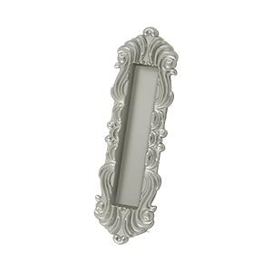 """Deltana - Flush Pull, Victorian, HD, 7"""" x 2-1/4"""" x 5/8"""", Solid Brass - Brushed Nickel"""