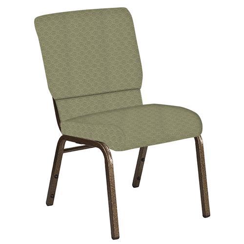 Flash Furniture - 18.5''W Church Chair in Arches Moss Fabric - Gold Vein Frame