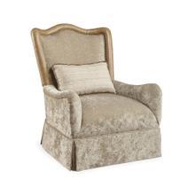 Giovanna Golden Quartz Skirted Accent Chair