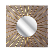 NK Felix Brass Cladding and Wood Mirror