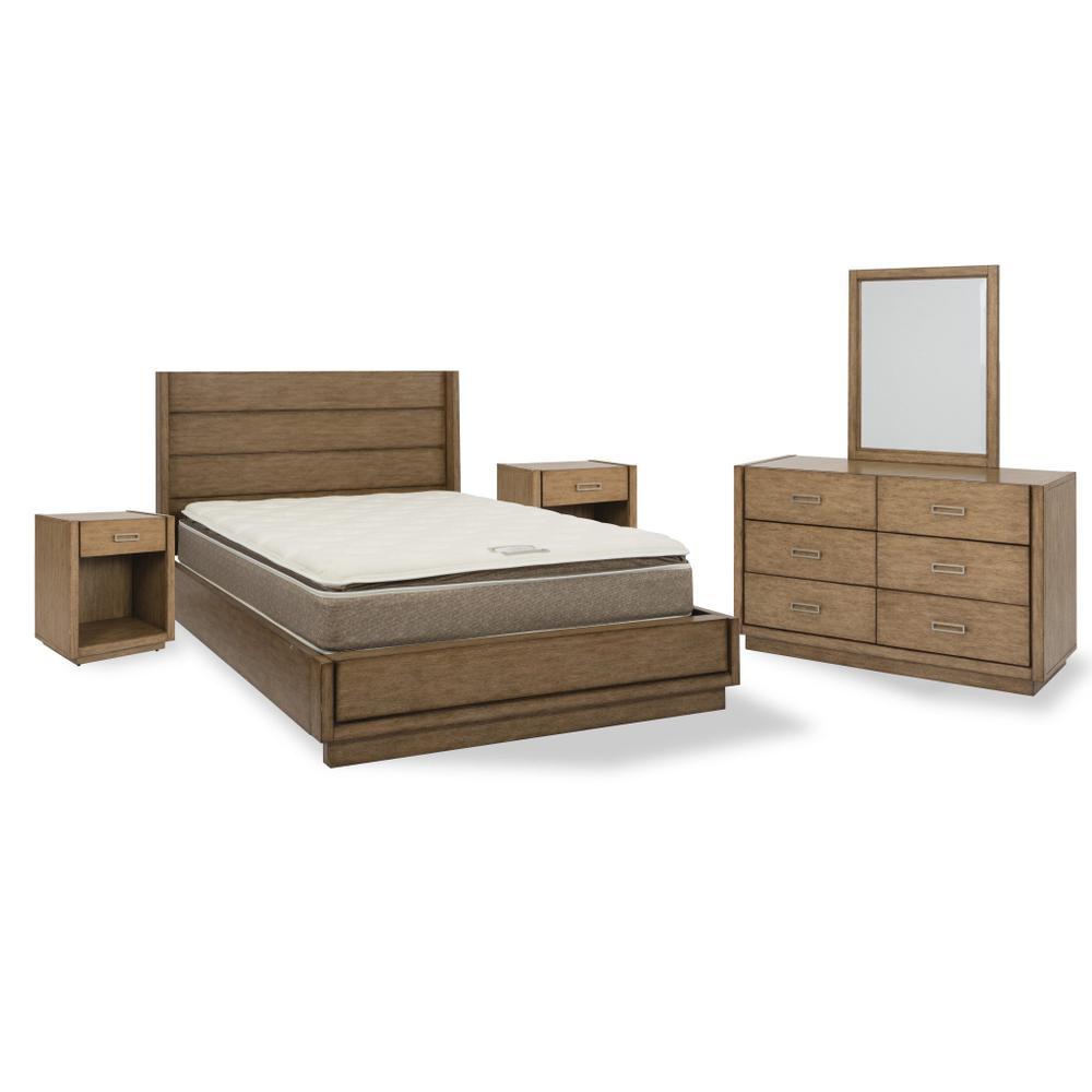 Montecito Queen Bed, Two Nightstands and Dresser With Mirror