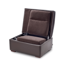 JumpSeat Ottoman, Premium Leather with Piping