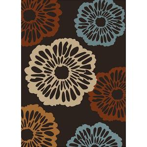 """Durable Hand Tufted Transition TF69 Area Rug by Rug Factory Plus - 7'6"""" x 10'3"""" / Brown"""