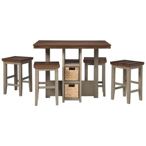 Signature Design By Ashley - Lettner Counter Height Dining Table and Bar Stools (set of 5)