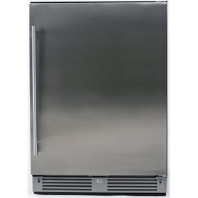 24in Outdoor Refrigerator Solid SS RH