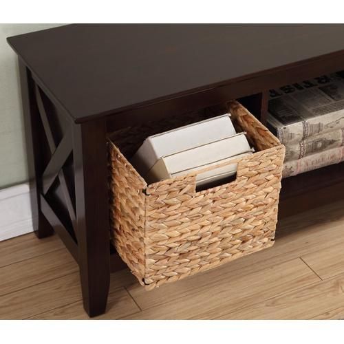 Farmhouse Style 2 Basket Storage Bench