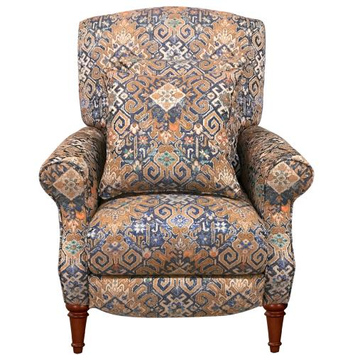 Navy Gold Abode Pushback Recliner with Matching Pillows