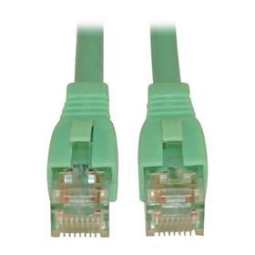 Cat6a 10G Certified Snagless UTP Ethernet Cable (RJ45 M/M), Aqua, 10 ft.