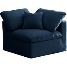 "Plush Velvet Standard Cloud Modular Down Filled Overstuffed Corner Chair - 35"" W x 35"" D x 32"" H"