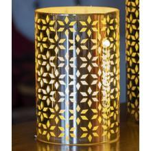 "6"" Gold Snowflake LED Candle"