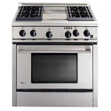 "GE Monogram® 36"" Professional Range with 4 Burners and Griddle (Liquid Propane)"