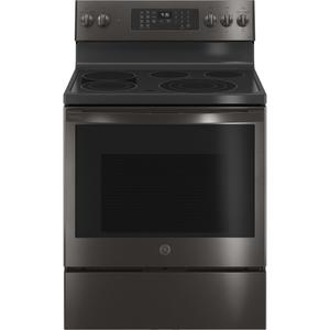 "GE  GE Profile™ 30"" Smart Free-Standing Electric Convection Range with No Preheat Air Fry"