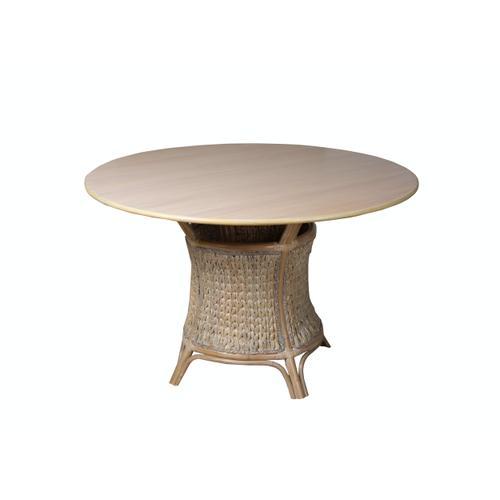 Capris Furniture - Table Base, Grey SeaGrass Finish.