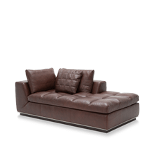 Rosato Leather LAF Chaise in Cordovan Espresso