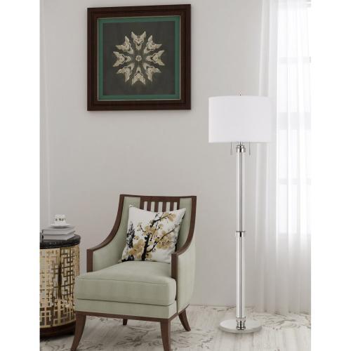 60W X 2 Montilla Metal/Acrylic Floor Lamp With Fabric Shade