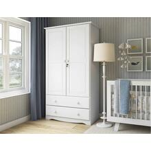 5921 - 100% Solid Wood Smart Wardrobe, White