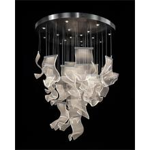 Nami: Forty-Three Light Pendant Chandelier in Formed Acrylic Waves