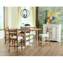 5 PIECE SET (TABLE AND 4 BARSTOOLS)