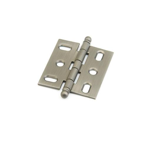 Solid Brass, Hinge, Ball Tip Mortise, Antique Nickel finish