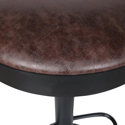 Juno Gaslift Bar Stool, Vintage Coffee Brown
