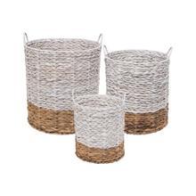 Ariana Natural Baskets White, Set of 3