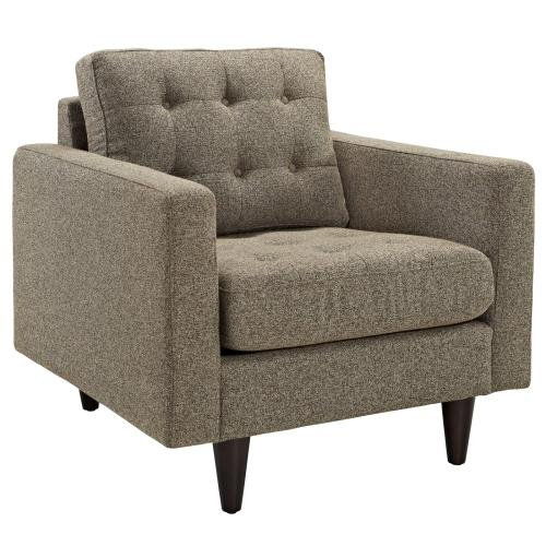 Empress Upholstered Fabric Armchair in Oatmeal