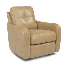 Swing Leather Swivel Chair