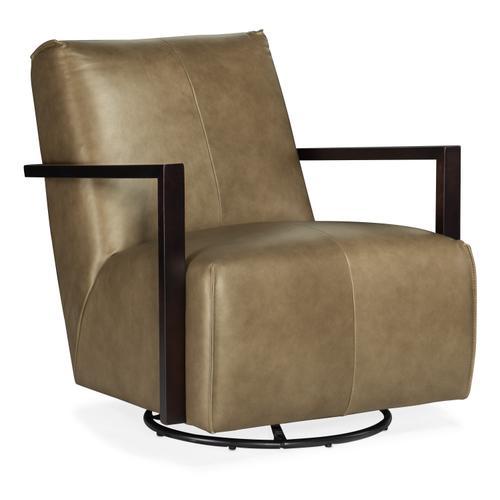 Modestus Exposed Arm Swivel Glide Club Chair