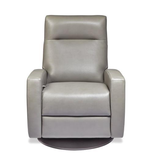 Eva Swivel Reclining Chair with Footrest - American Leather