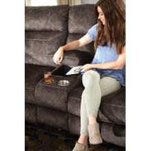 Pwr Headrest Lay Flat Recl Cnsl Loveseat w/Stg & Cupholders