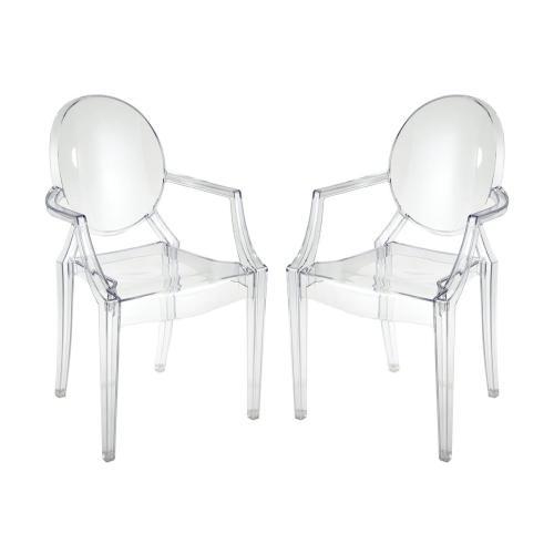 Vanish Clear Acrylic Set of 2 Armchairs