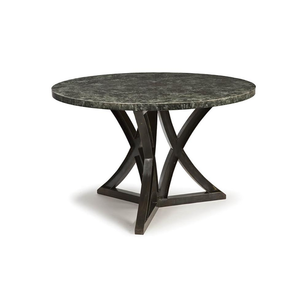 See Details - Lfd - After Midnight Zinc Top Dining Table (48 Inches)