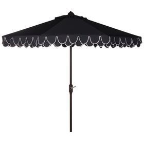 Elegant Valance 11ft Rnd Umbrella - Navy / White