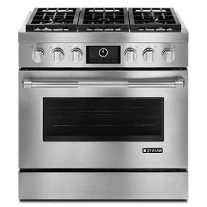 """Jenn-AirPro-Style® 36"""" Dual-Fuel Range with MultiMode® Convection"""